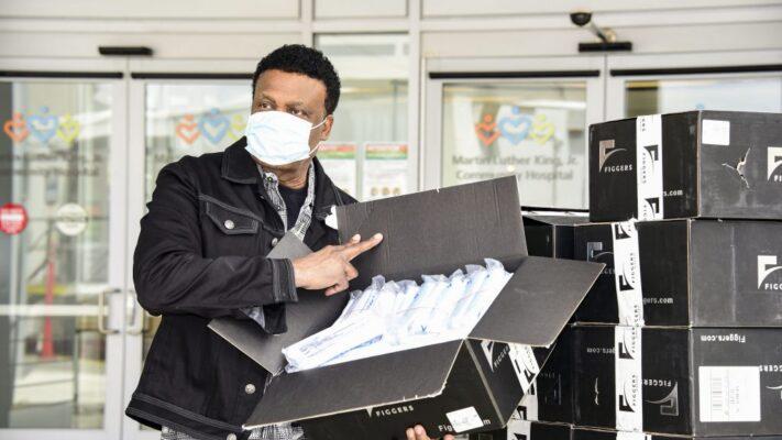 Bishop-Ulmer-Figgers-MLK-Hospital-PPE-Donation-Photo