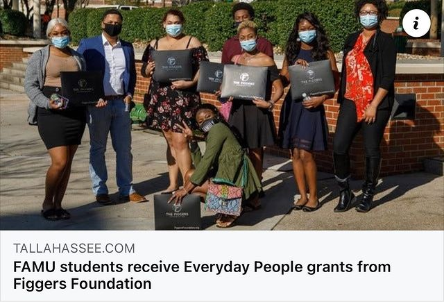 FAMU Students Receive Every Day Grant from Figgers Foundation